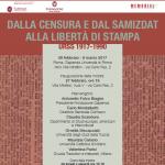 Dalla censura e dal Samizdat alla libertà di stampa inaugurazione Roma
